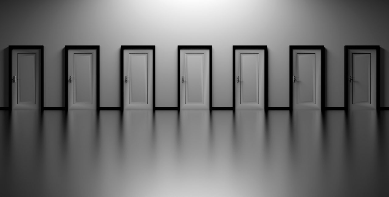 black-and-white-decision-doors-277017